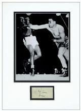 Joe Louis Autograph Signed Display